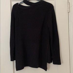 BB Dakota Dusk Til Dawn Shoulder Cutout Sweater
